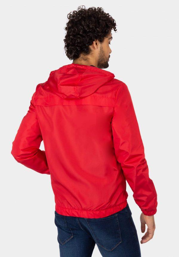 Casaco vermelho com capuz para homem da Tiffosi