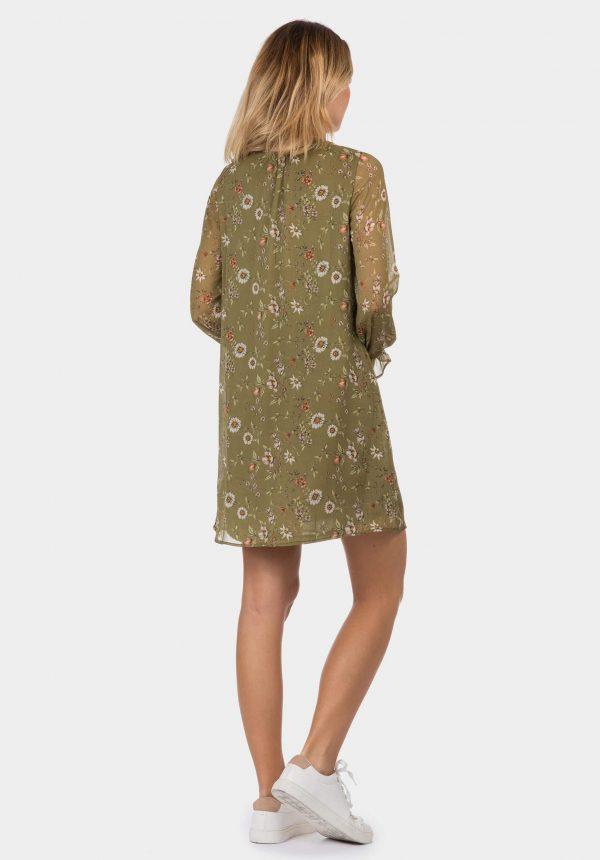 Vestido floral em kaki para mulher da Tiffosi