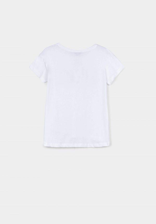 T-shirt branca com texto missangas para menina da Tiffosi