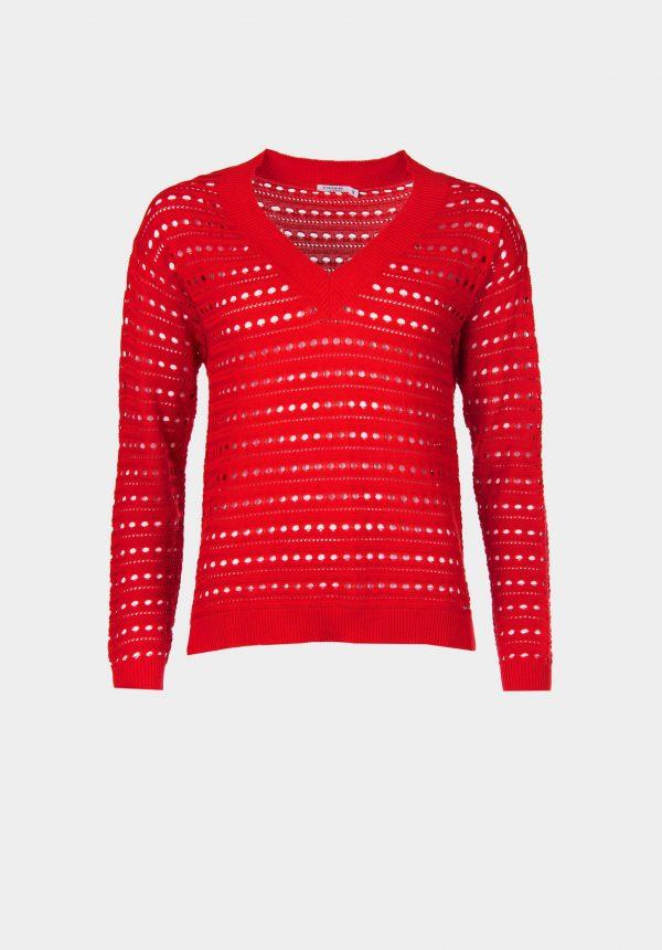 Camisola vermelha com buracos para mulher da Tiffosi