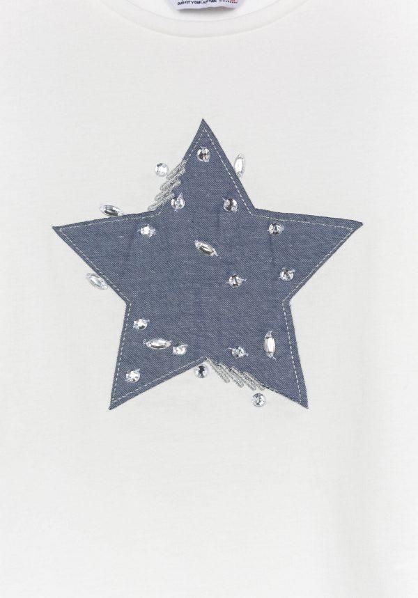T-shirt com estrela para menina da Tiffosi