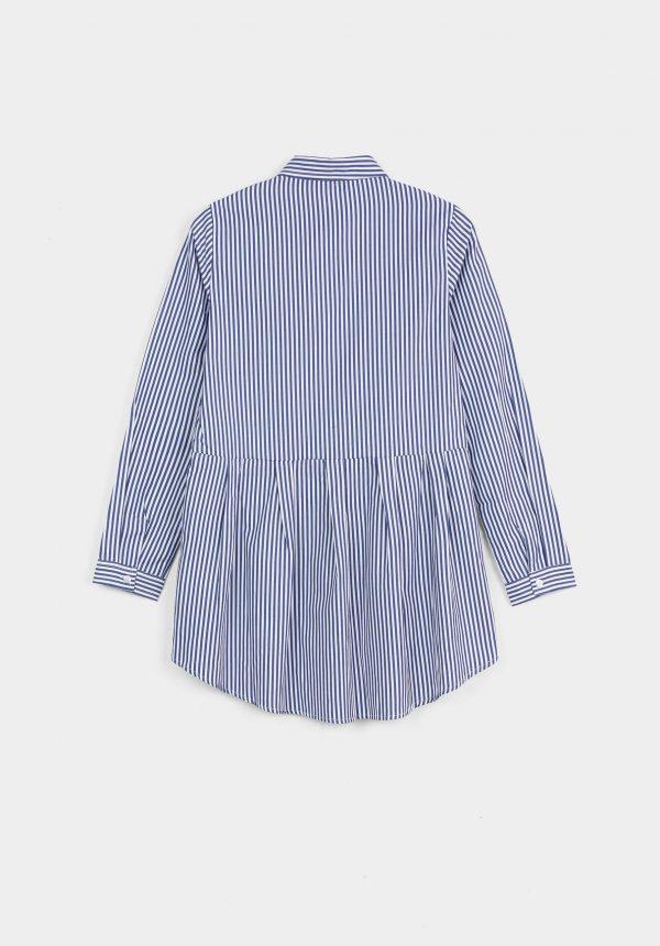 Camisa riscas com franzido para menina da Tiffosi