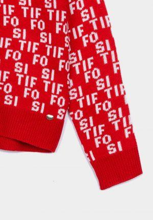 Camisola de malha logótipo para menina da Tiffosi