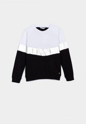 Sweatshirt combinada tricolor para Menina da Tiffosi