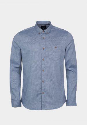 Camisa azul slim fit para homem da Tiffosi