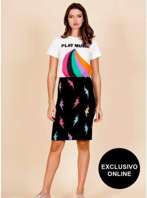 Lightning Skirt para mulher da Minueto