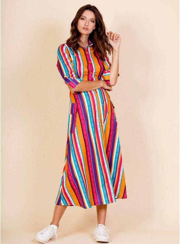 Long Lines Dress para mulher da Minueto