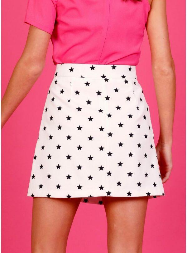 White Night Skirt para mulher da Minueto