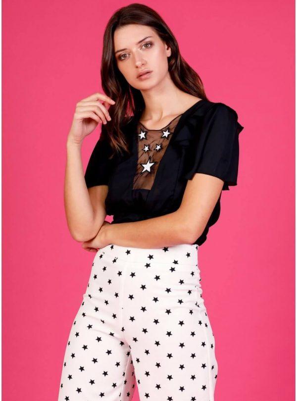Black Star Bodysuit para mulher da Minueto