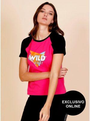 T-shirt wild para mulher da Minueto