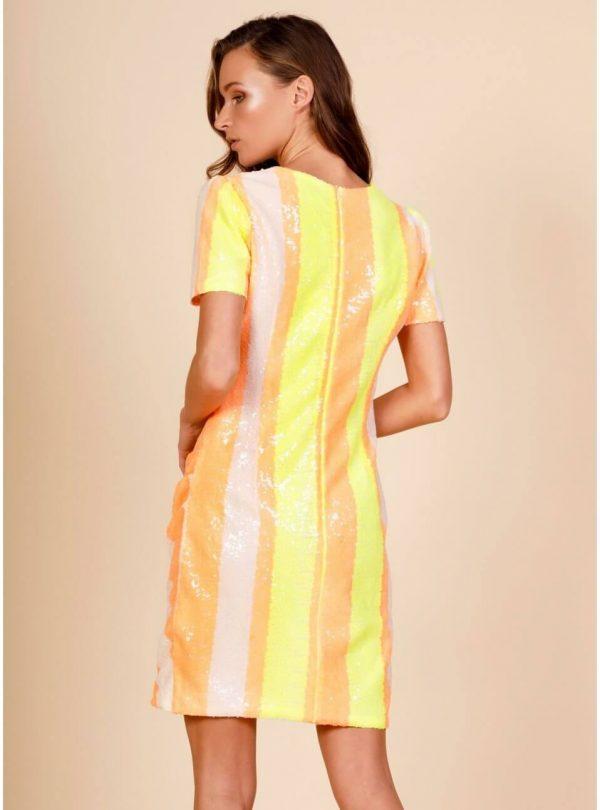 Vestido neon striped para mulher da Minueto