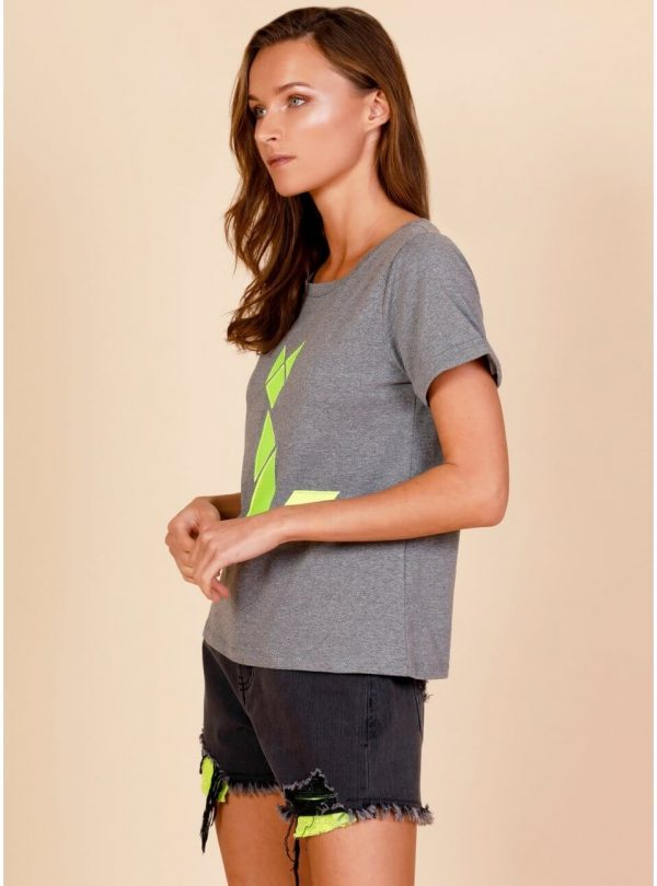 T-shirt neon cat para mulher da Tiffosi