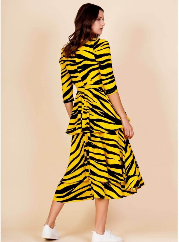 Vestido longo tiger para mulher da Minueto