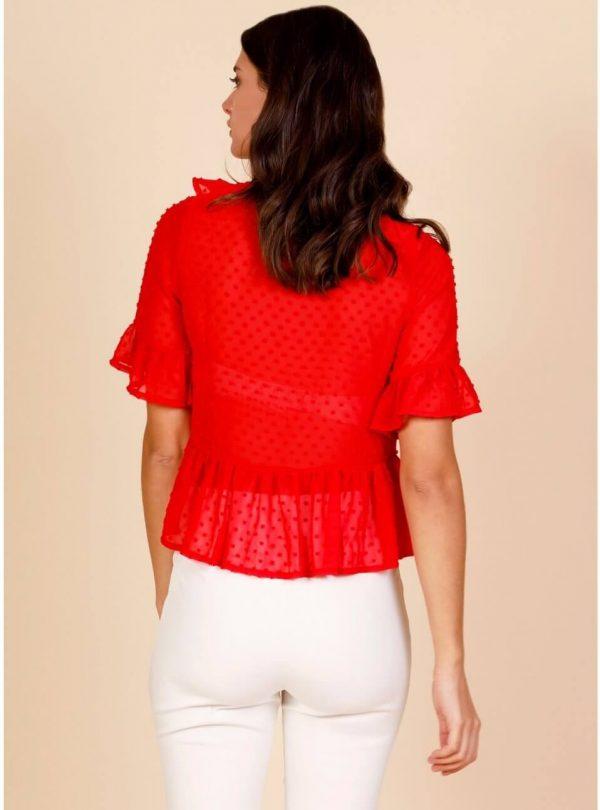 Túnica lola em vermelho para mulher da Minueto