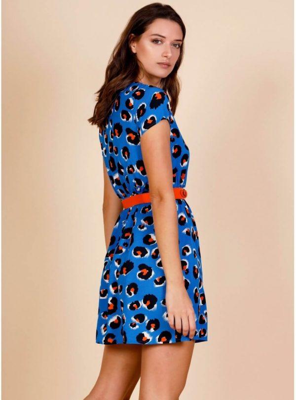 Vestido blue leo para mulher da Minueto