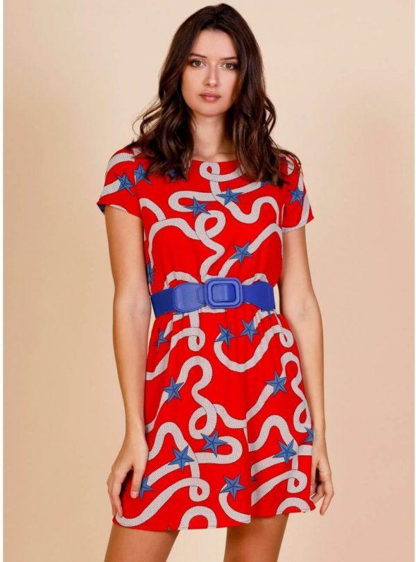 Vestido red sailor para mulher da Minueto