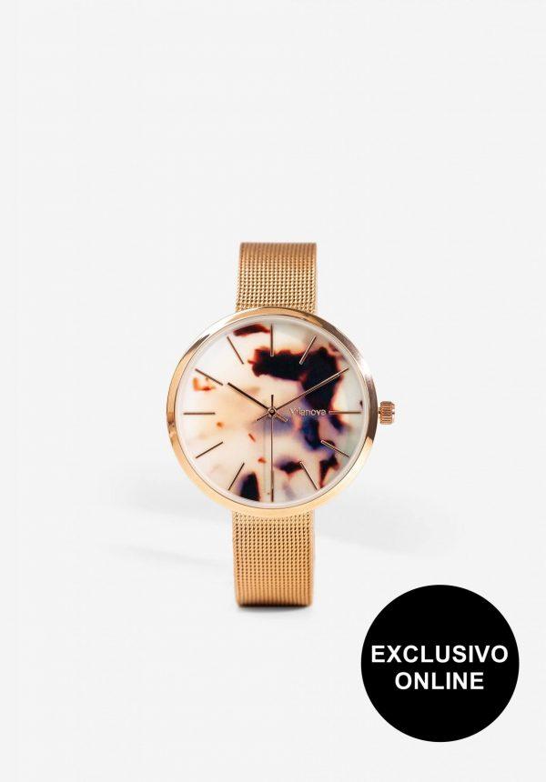 Relógio dourado Wat para mulher da Vilanova