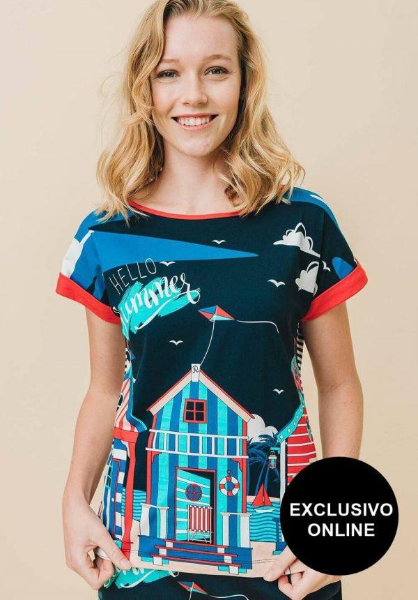 T-shirt Ixtapa para mulher da Rosalita Mc Gee