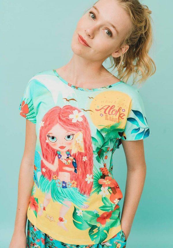 T-shirt misteriosa para mulher da Rosalita Mc Gee