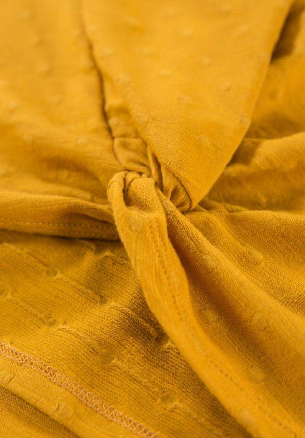 Camisola amarela com torcido para menina da Garcia Jeans