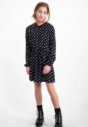 Vestido preto com bolas para menina da Garcia Jeans