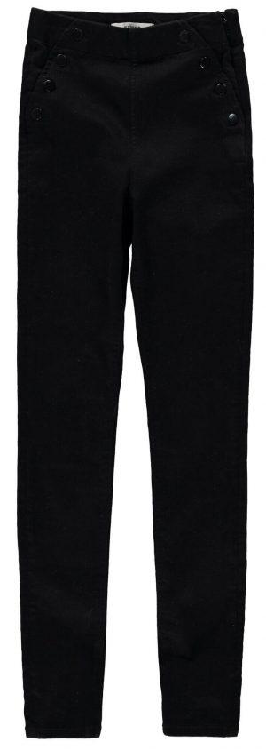 Calça preta com molas para menina da Garcia Jeans