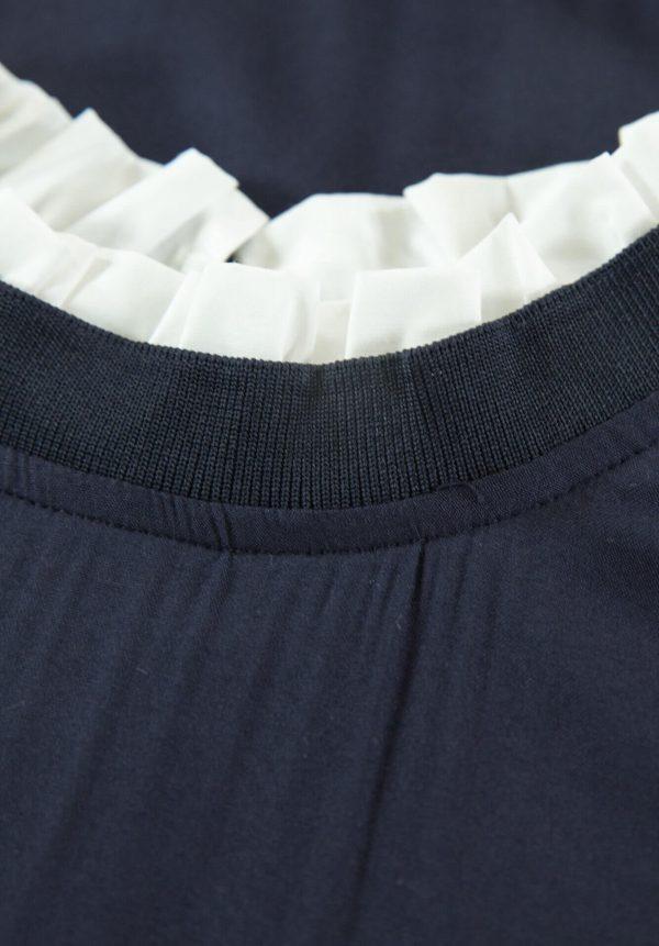 Camisola azul com aba para menina da Garcia Jeans