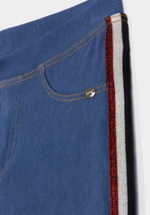 Jeggings skinny c/ faixa lateral paqra menina da Tiffosi