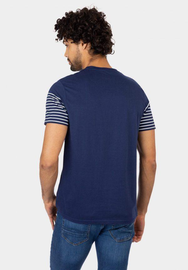 T-shirt azul c/ bolso printado para homem da Tiffosi