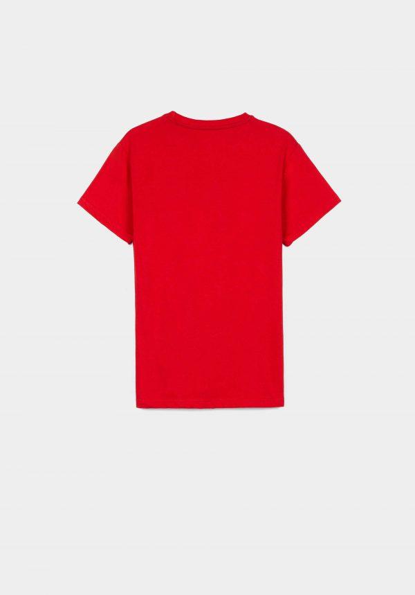T-shirt vermelha c/ estampa para menino da Tiffosi