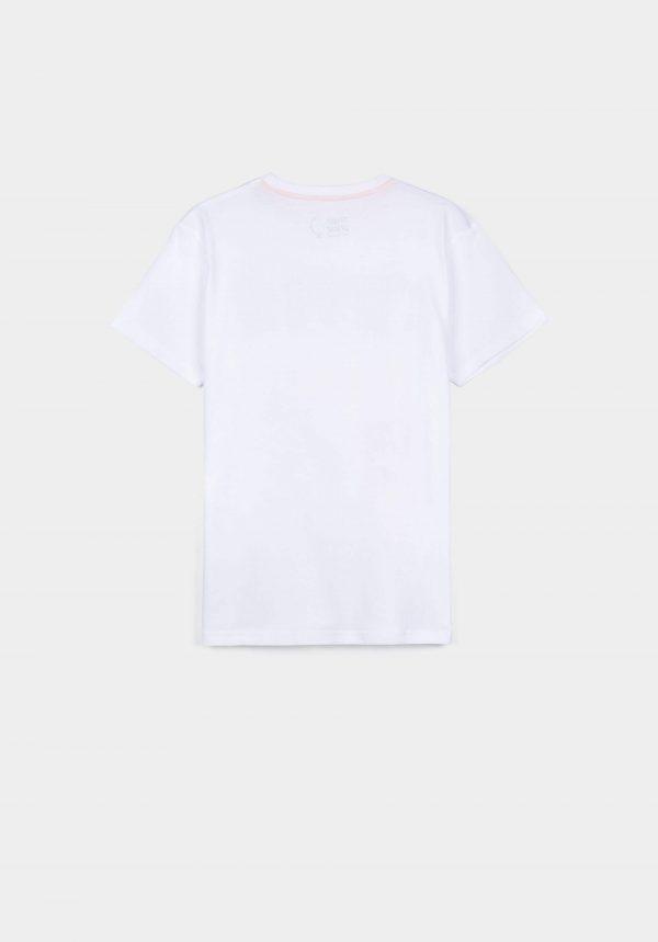 T-shirt branca c/ avião para menino da Tiffosi