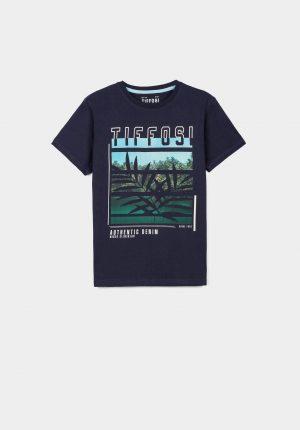 T-shirt azul c/ estampa para menino da Tiffosi