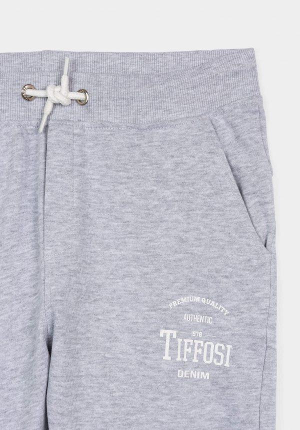 Calça cinza jogger c/ cordão para menino da Tiffosi
