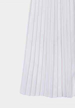 Saia branca plissada para mulher da Tiffosi