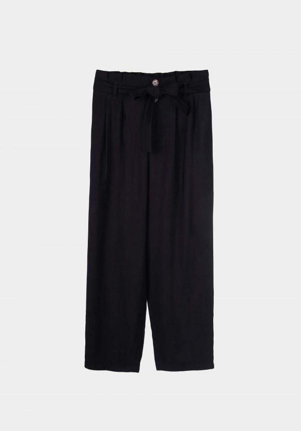 Calça larga preta para mulher da Tiffosi