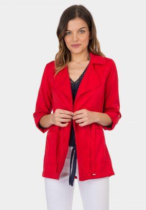 Casaco vermelho sem botões da Tiffosi para mulher