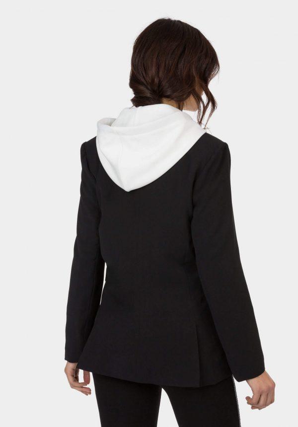 Casaco traçado preto para mulher da Tiffosi