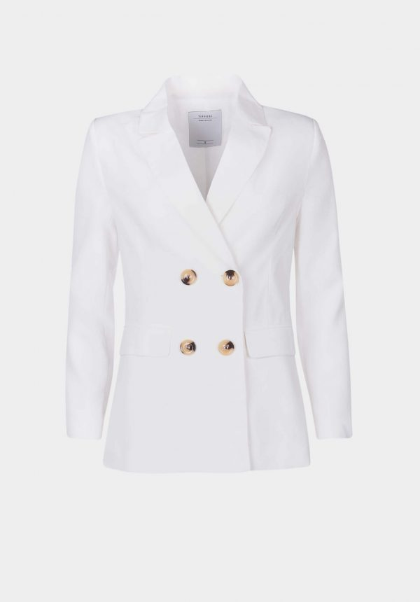 Casaco traçado branco para mulher da Tiffosi