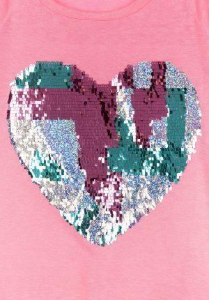 T-shirt rosa c/ coração para menina da Tiffosi