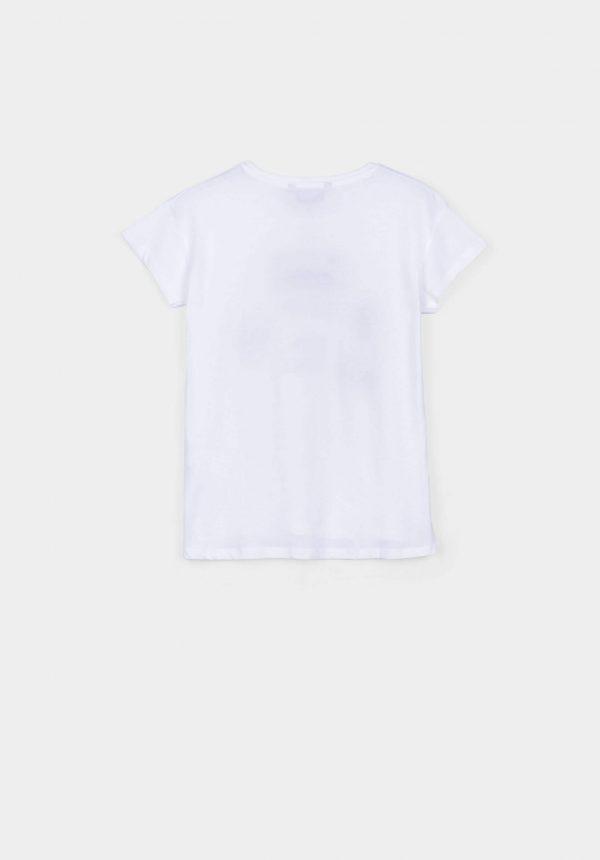 T-shirt branca c/ remendos para menina da Tiffosi