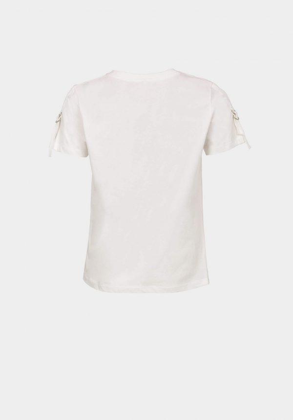 T-shirt branca c/ fivela na manga para mulher da Tiffosi