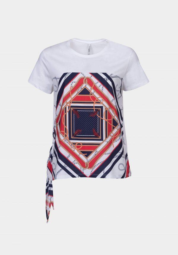 T-shirt branca c/ laço para mulher da Tiffosi