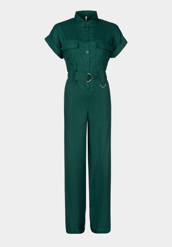 Jumpsuit verde garrafa para mulher da Tiffosi