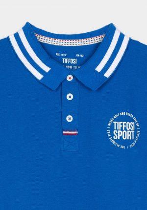 Polo azul porto para menino da Tiffosi