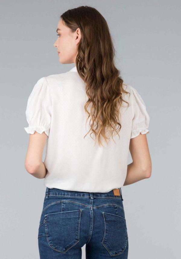 Camisa dobby c/ nó para mulher da Tiffosi