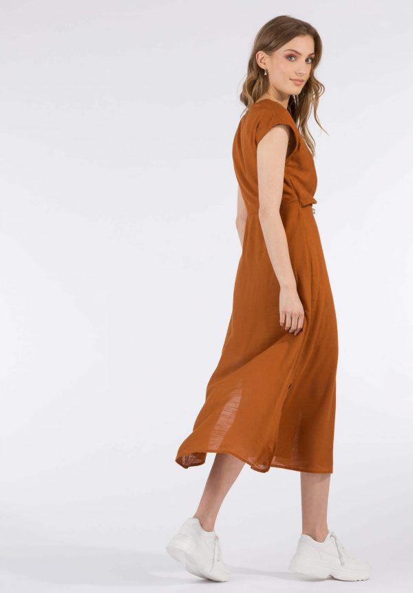 Vestido cor terra c/ cinto para mulher da Tiffosi