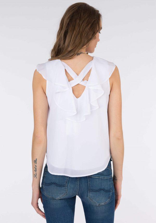 Tope branco c/ traçado para mulher da Tiffosi