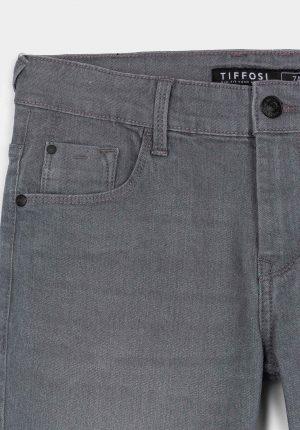 Calções cinza c/ 5 bolsos para menino da Tiffosi