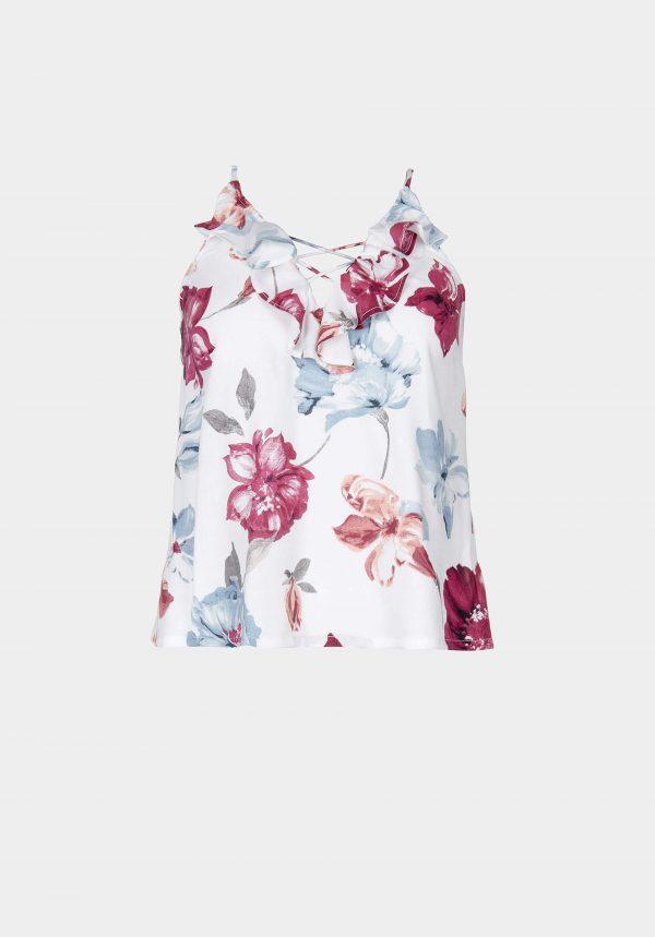 Tope de alças c/ print floral para mulher da Tiffosi