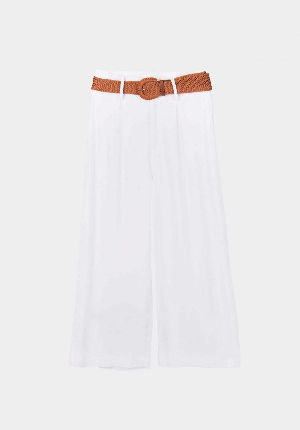 Calça branca c/ cinto para mulher da Tiffosi